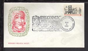 Milcopex 1973 Copernicus Cover BIN