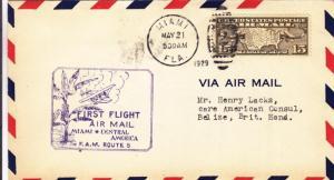 1929, 1st Flt., FAM-5, Miami, FL to Belize, Brit. Honduras, See Remark (27997)