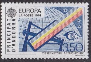 French Andorra # 404, Europa - Telescope, NH, 1/3 Cat