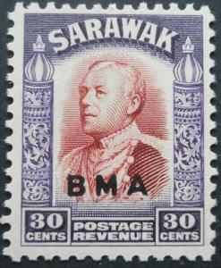 Sarawak 1945 GVI Thirty Cents opt BMA SG 138 mint