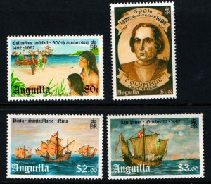 ANGUILLA 862-865 MNH DISCOVERY OF AMERICA SET 1992
