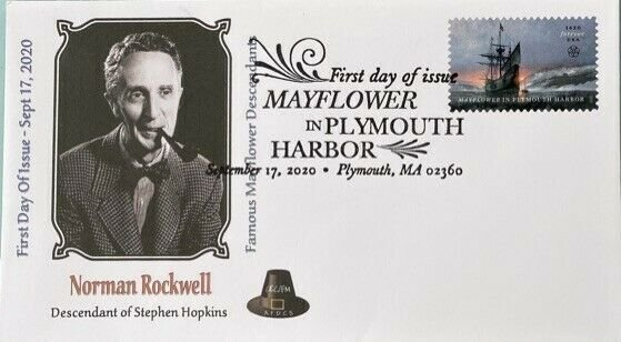 AFDCS 5524 Mayflower Plymouth Harbor Norman Rockwell Descendant Stephen Hopkins