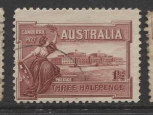 Australia - Scott 94 - Opening Parliament House -1927 - Used -1.1/2p Stamp
