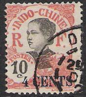 Indo-China #69 Annamite Girl Surcharged Used