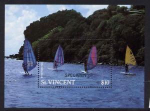 St. Vincent 1099 Specimen o/p MNH  - Sports, Windsurfing