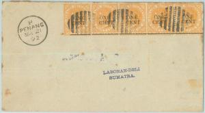 68791 - STRAIT SETTLEMENTS - Postal History -  COVER  from PENANG  1892