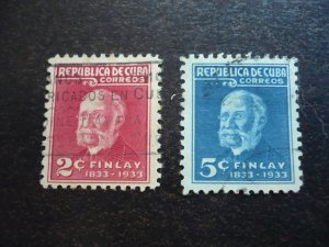 Stamps - Cuba - Scott# 319-320 - Used Set of 2 Stamps
