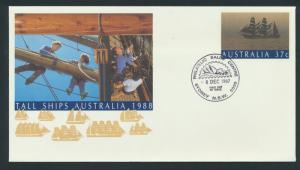 Australia PrePaid Envelope 1987 -  Tall Ships Australia 1988