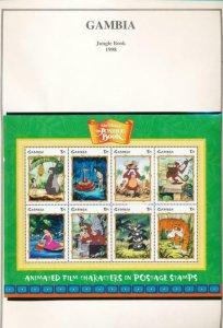 DISNEY GAMBIA 2099-2101 MNH JUNGLE BOOK 1998