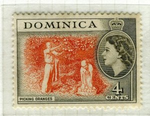DOMINICA; 1954 early QEII issue fine Mint hinged 4c. value