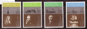 IRELAND SC# 492-495 SCIENTISTS AND INVENTIONS  -MNH