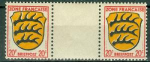 Germany - Allied Occupation - French Zone - Scott 4N8 Pair MNH