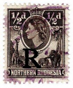 (I.B) Northern Rhodesia Revenue : Duty Stamp ½d
