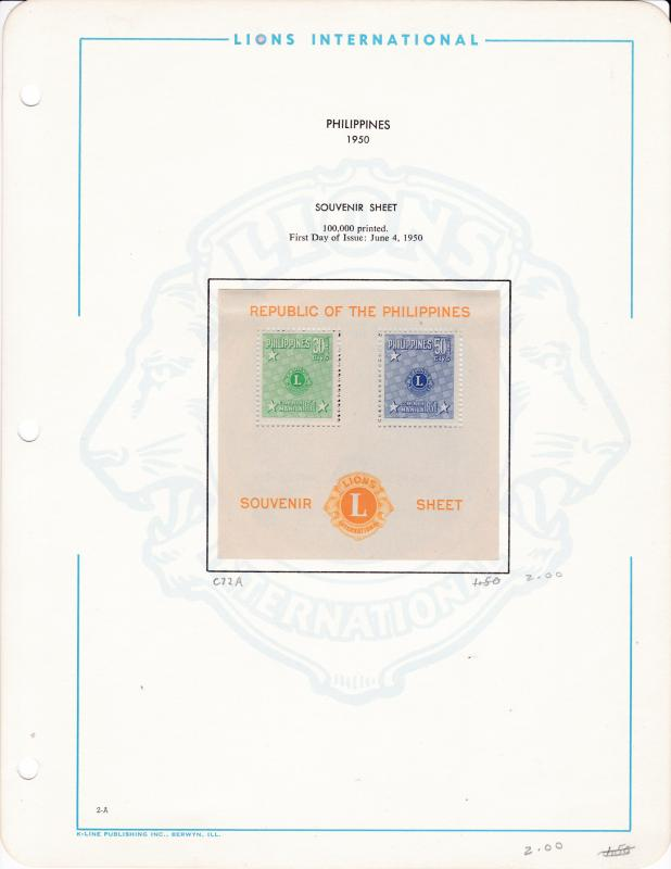 LIONS CLUB International Collection on Pages  Mounted Sets & Souvenir Sheets VF