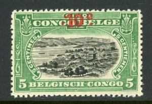 Belgian Congo 1922 10¢/5¢ Provisional Port Matadi MNH X715