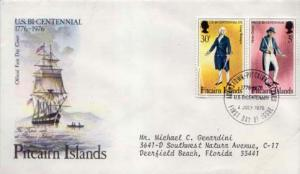 Pitcairn Island, First Day Cover, Americana