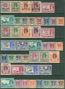 BURMA : 1946-47. Stanley Gibbons #51-63, 68-82, O41-53. Catalog £293.00.