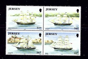 Jersey 596-99 MNH 1992 Ships in block of 4 from S/S