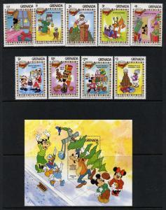 Grenada 1175-84 MNH Disney, Christmas, Goofy, Mickey