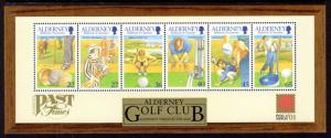 Alderney 175a Golf Souvenir Sheet MNH VF
