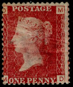 SG43, 1d rose-red plate 149, LH MINT. Cat £55. MD
