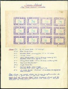 Swan Island Original Mint Stamp Sheet Of 12 Varieties
