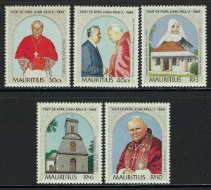 Mauritius Scott 706-710 Mint Never Hinged