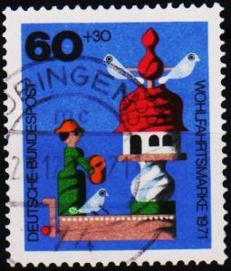 Germany. 1971 60pf+30pf S.G.1610 Fine Used