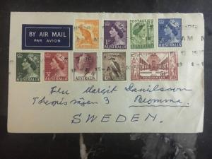 1958 Australia Cover to Bromma Sweden