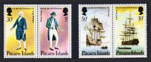 Pitcairn Bicentenary of American Revolution 4v Pairs SG#167-170 SC#158a-159a