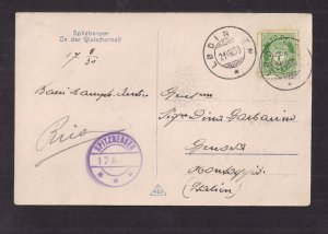 NORWAY: SPITZBERGEN Real Photo Post Card w SPECIAL MARKING 1930 to ITALY Sc #79
