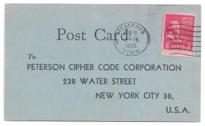 2c Prexie #806 on commercial postcard 1995 TN to NYC Nice!