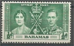 BAHAMAS, 1937, MNH 1/2p, Coronation Issue, Scott 97