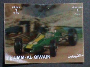 QIWAIN STAMP - LOVELY CLASSIC ANTIQUE CAR- AIRMAIL-LARGE 3-D STAMP MNH #2