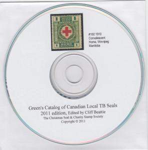 Green's Catalog of Canadian Local TB Seals, 2011 edition. CD