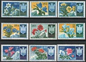 SAN MARINO-1953 Flowers Set of 9 Sg 464-472 UNMOUNTED MINT V41540