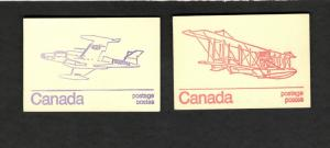1983 Canada 2 Booklets CF-100 CANUCK Jetfighter & CURTISS HS-2L Flying Boat MNH