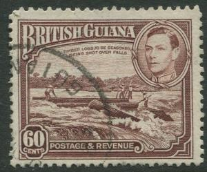 British Guiana - Scott 237 - KGV Definitive -1938 - FU - Single 60c Stamp