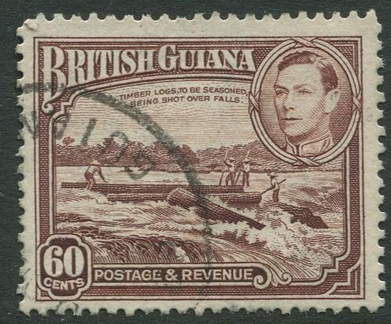 British Guiana - Scott 237 - KGV Definitive -1938 - FU - Single 60c Stamp