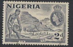 Nigeria  SG 72f SC# 83 Used  QEII 1953  Variety Type B Tin Mining please see ...