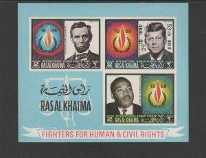 RAS AL KHAIMA  1968  HUMAN RIGHTS    MINT VF NH O.G S/S (RAS24)