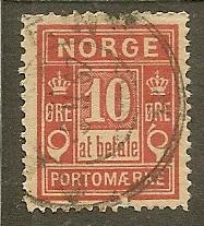 Norway  Scott J3    Numeral    Used