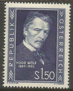 AUSTRIA  587  HINGED,  HUGO WOLF, COMPOSER
