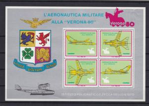 military aircraft mint never hinged stamps sheet ref 16416