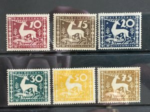 1920 Wurttemberg Sc# O53-8, Complete MLH