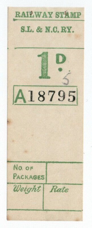 (I.B) Sligo Leitrim & Northern Counties Railway : Parcel Stamp 1d