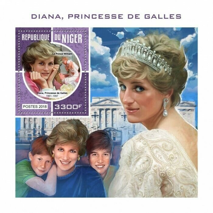 HERRICKSTAMP NEW ISSUES NIGER Princess Diana S/S