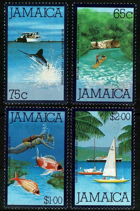 Jamaica #478-81  MNH - Scenes, High Values of Set (1980)