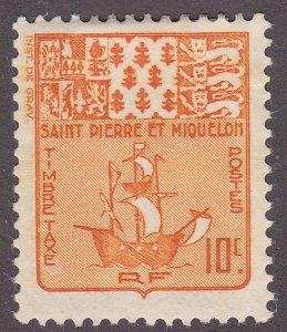 St. Pierre & Miquelon J68  Arms & Fishing 1947