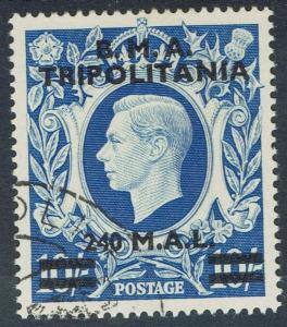 BRITISH OCCUPATION ITALIAN COLONIES 1948 BMA TRIPOLITANIA KGVI 240M ON 10/- USED